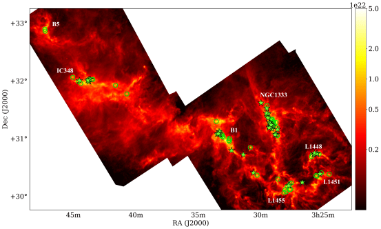 Herschel Column Density Map