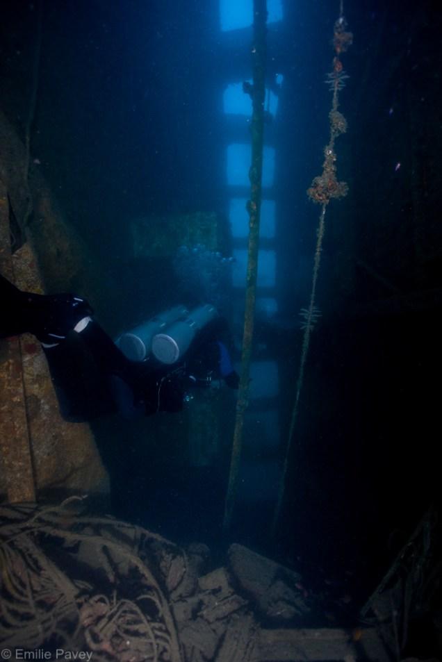 Inside the San Juan wreck