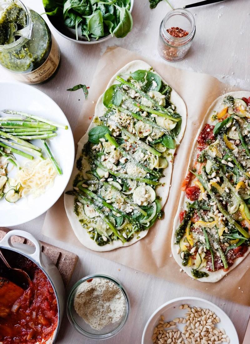 Noe av det hyggeligste jeg vet om å gjøre sammen med andre, er å ha pizzaverksted. Spesielt hvis det er grønn pizza på gang.