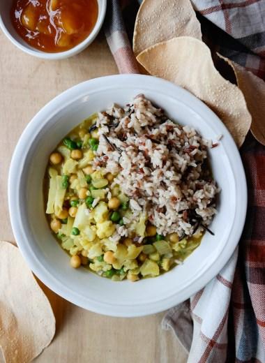 Vegansk masala med grønnsaker og garam masala