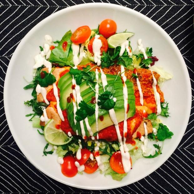 Veganske enchiladas med limesaus - Green Bonanza