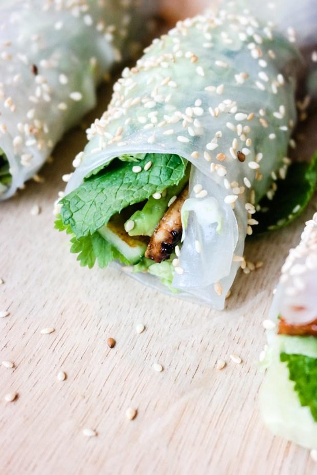 Grønne sommerruller med tofu