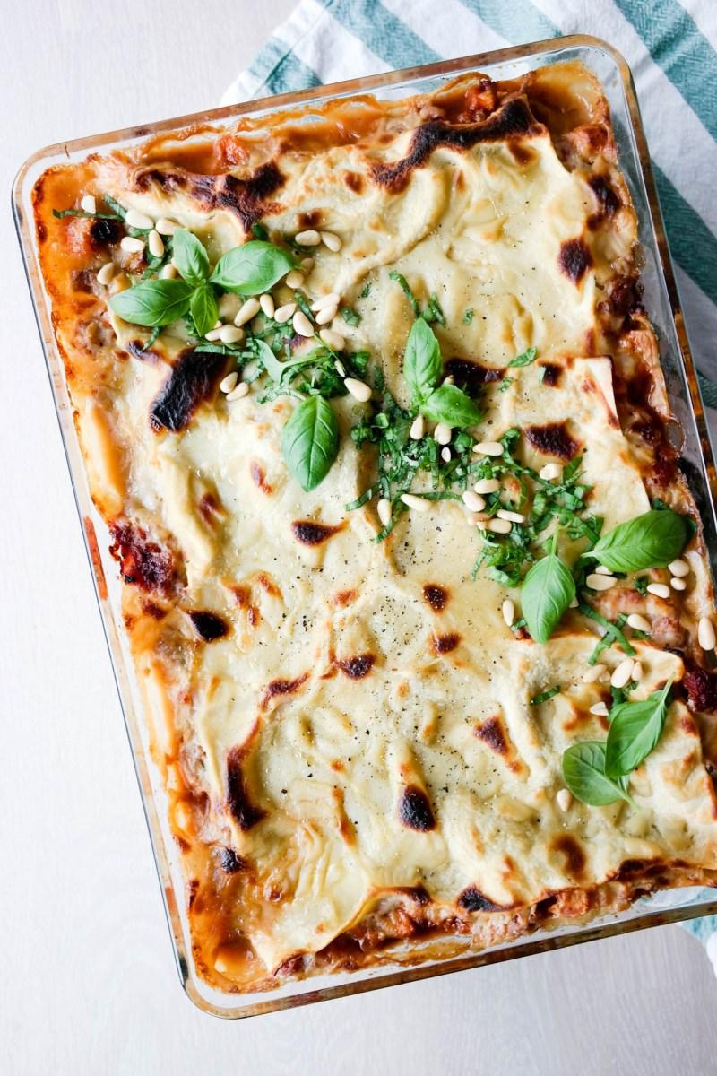 En skikkelig god, klassisk lasagne - som er vegansk!