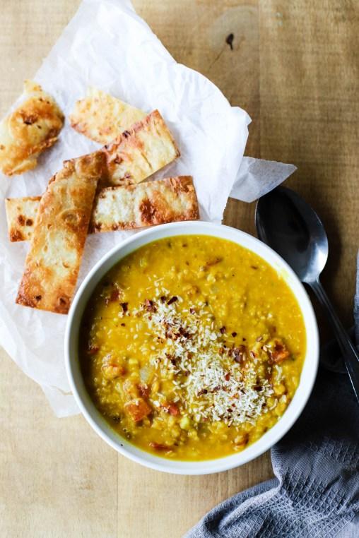 Indisk linsesuppe er den perfekte, varmende suppa!