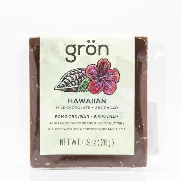 Grön CBD Hawaiian Milk Chocolate Bar