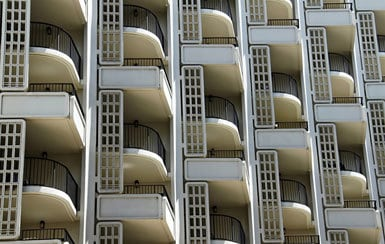 Balconies - concrete building
