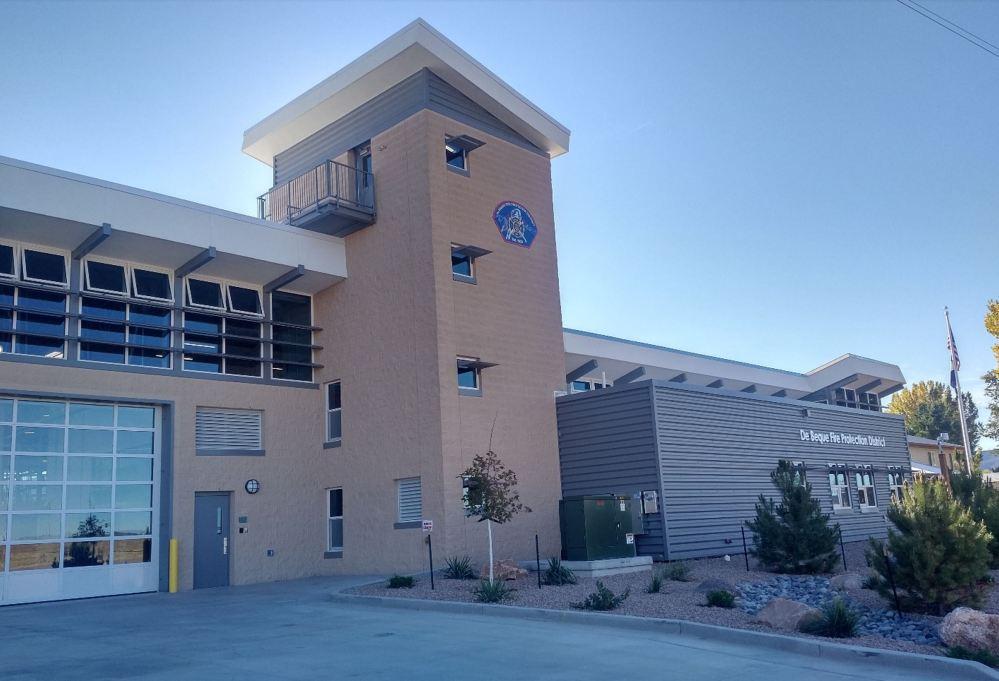 Exterior View - De Beque Fire Station, De Beque, Colorado - Compressed