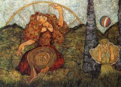Meinrad Craighead Goddess Painting