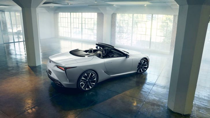 Lexus LC Cabriolet Concept: hybride luxe in open lucht