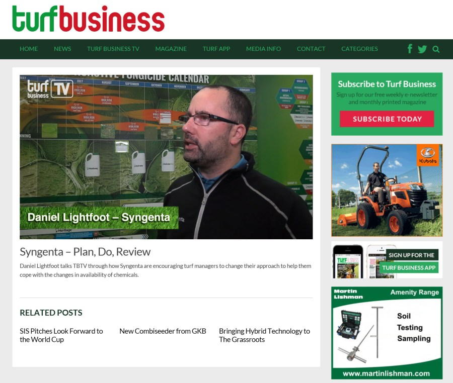 Turf Business TV page