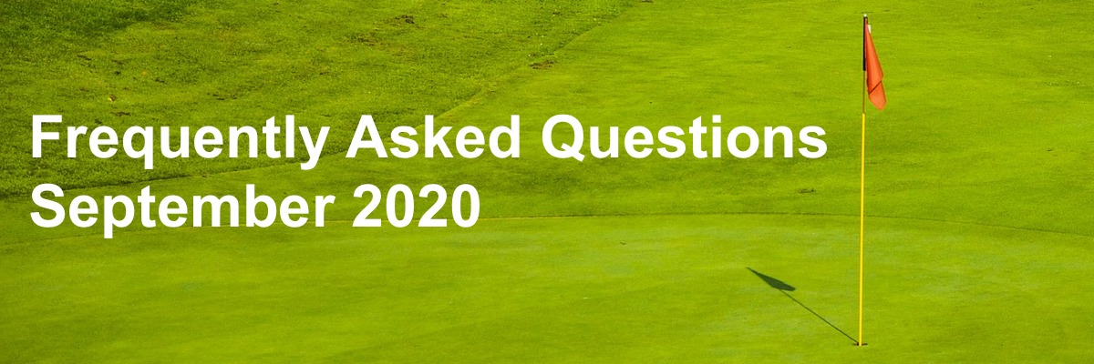 Golf Course Turf Frequently Asked Questions