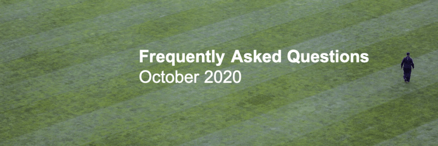 Frequently Asked Questions Turf October
