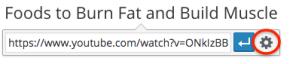 add youtube link - gear icon
