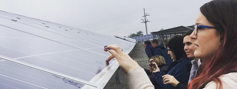 Green Check Businesses Tour Solar Farm