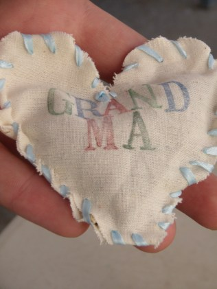 """Brent opts to give his grandmother a smile for Valentines day! (The flip side says, """"I love you."""")"""