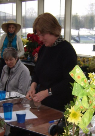 Pat demonstrates how to create your own grass seed head.