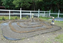 We continue to work on our new labyrinth; fine-tuning edging and working on drainage issues. The younger kids have really surprised me by how attracted they are to walking our new pathways! I hope this addition to our garden will bring peace to many, many people of all ages to come.