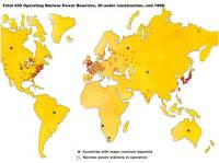 Nuclear power plant across the world-Map