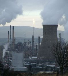 GHG emission from a petrochemical refinery