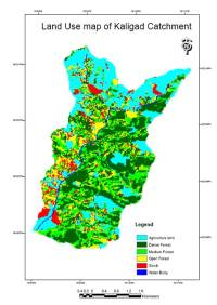 Landuse map of Kaligad catchment