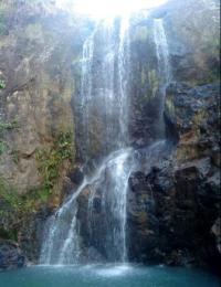 Llano del Muerto waterfall in El Salvador