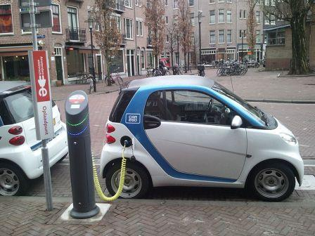 Electric car_during charging