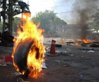 Burning of tyres