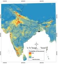 Sparrow distribution map