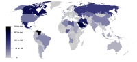 A map of world oil reserves, January 2014