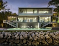 Bass Residence: Located directly adjacent to Biscayne Bay and immediately south of downtown Miami, the Bass Residence underscores the firm's continued exploration with the concept of a floating rectilinear frame. Photo credit: Claudio Manzoni Photography via v2com