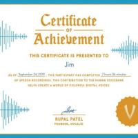 VocalID Certificate - 3500