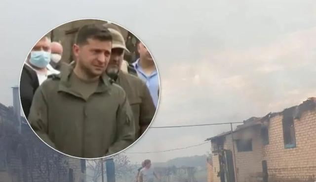 Пострадавшим от пожаров в Луганской области заплатят по 300 тысяч гривен, – Зеленский