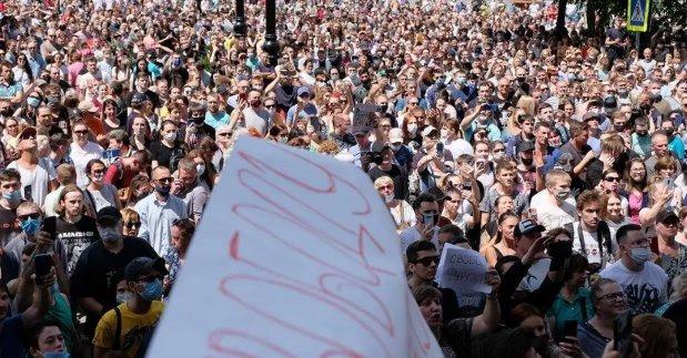 В Хабаровске народ поднял бунт против Москвы. На подходе еще 14 регионов РФ