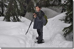 Lanham lake snow shoeing 076