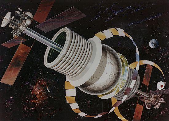 1970s space colony art by nasa 5
