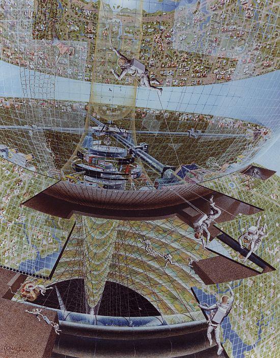 1970s space colony art by nasa 9