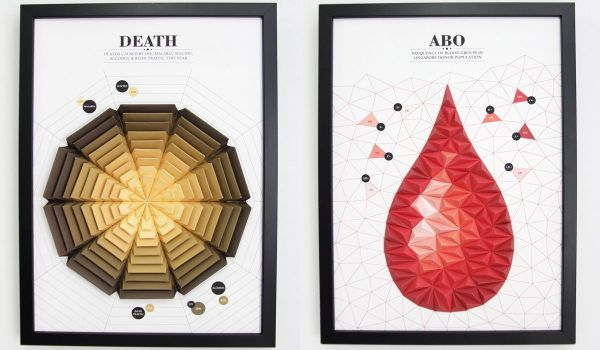 3d paper infographics by pattern matters