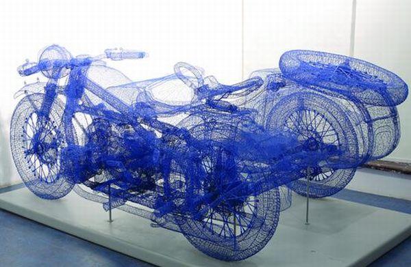 3D Steel Wire Sculptures