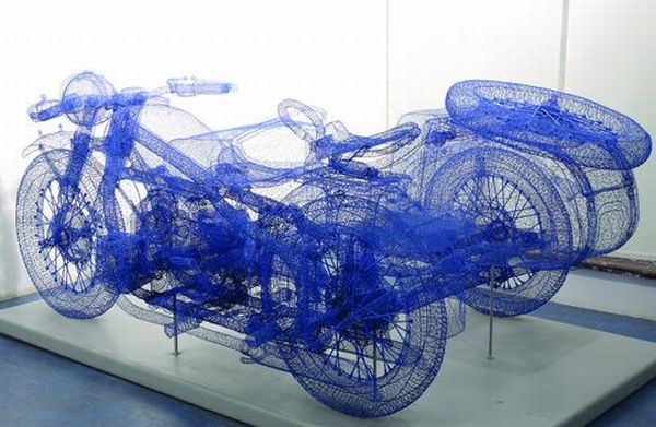 3D Steel Wire Sculptures
