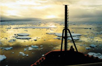 a view of polar ice melt 9