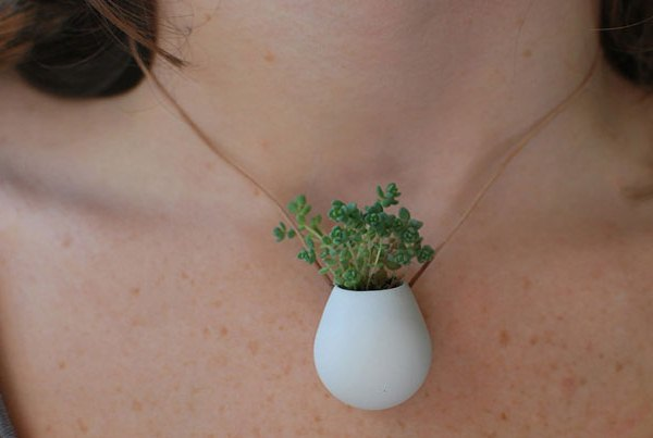 A wearable planter