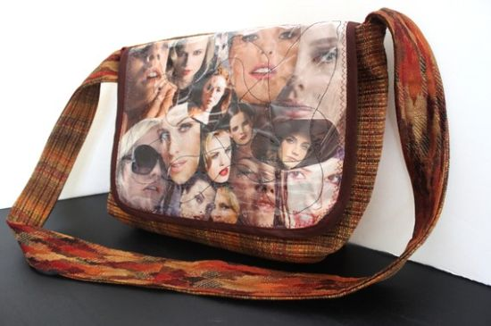 bag flap made from magazines 2