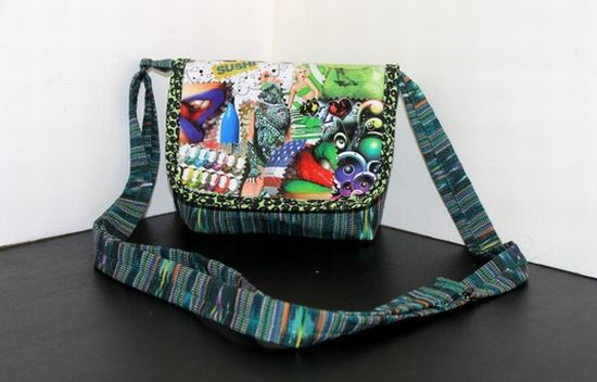 bag flap made from magazines