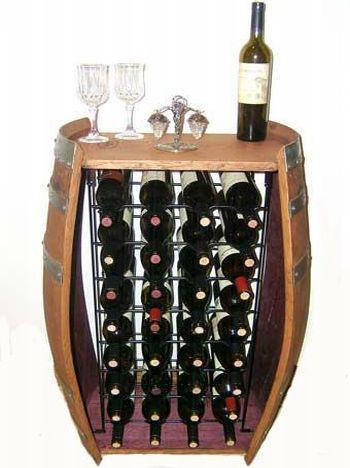 barrel wine rack 32 bottle