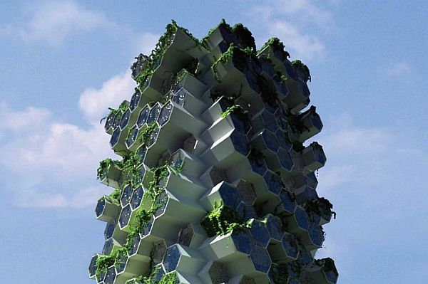 Beehive-Inspired Vertical Farm