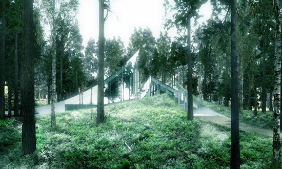 big architects unveils sustainable crematorium des