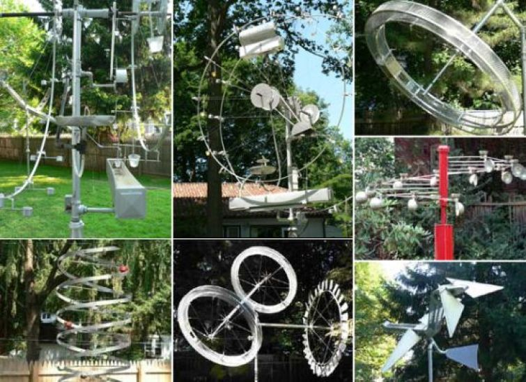 bill mchughs yard kinetic sculptures