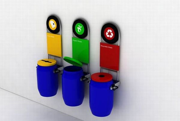 Bins to promote recycling