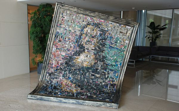 bizarre crafts created from e-waste