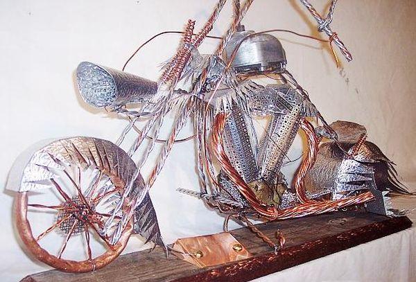 Bob Heller's handmade motorcycle sculptures